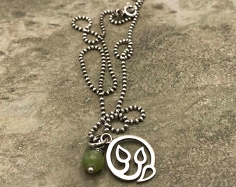 Earth - Aventurine and Sterling Silver Necklace