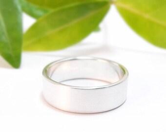 Modern Mens Wedding Ring Sterling Silver Womens Wedding Band Plain Wedding Band Womens Wedding Ring Silver Wedding Band Silver Wedding Ring