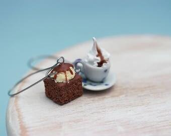 Brownie and Coffee Earrings