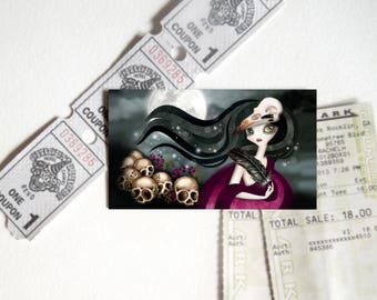 Witching Hour Refrigerator Magnet, Art on your fridge, Swap, Pen Pal, Snail Mail Gift