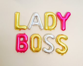 LADY BOSS Balloon, Lady Boss, Lady Boss Decorations, Lady Boss Party, Slay All Day, Boss Day, Gifts for Boss, Party for Boss, Girl Bosses