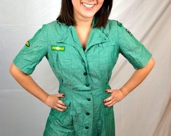Rare 1950s 60s Vintage Girl Scout Dress Uniform