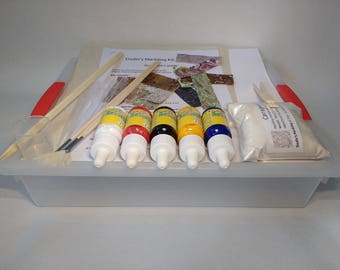 Dodin's Starter Marbling Kit 5C Set for Paper Fabric 3D Supplies Tools How to Guide DIY