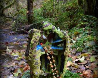 RESERVED for Joni ~ Woodland Faery Dwelling, By Be-som ~