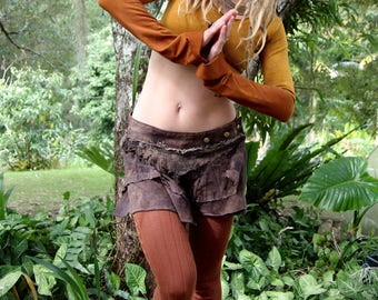 Size XS/S Bamboo Terry Lycra Cropped Pixie Pull Over