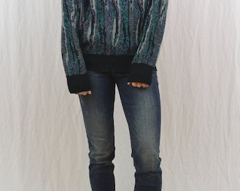 Vintage Abstract 80's Sweater, Size Medium, Unisex, Hipster, Indie Clothing, Tumblr Clothing, Stranger Things