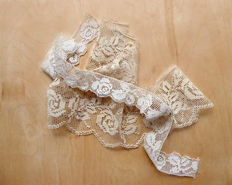 Filet Lace Sewing Trim, Two Strips