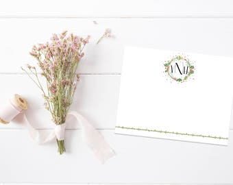 Personalized Stationery   Custom Stationary   Monogram Notecards   Personalized Notecards   Custom Thank You Notes   Flat Thank You Cards