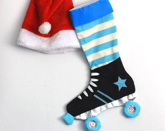 Roller derby Christmas stocking- Roller skates christmas stocking