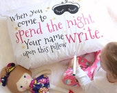 Girls Sleepover Pillowcase - Autograph Pillowcase - Slumber Party or Pajama Party - Personalized Pillowcase Keepsake Birthday Gift for Girl