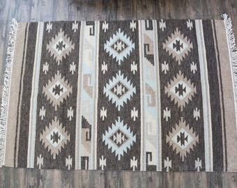 "Vintage Navajo Style Rug 50"" x 77 |  FREE DOMESTIC SHIPPING"