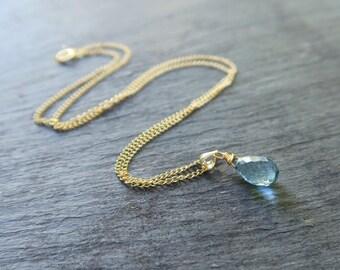 London Blue Topaz Necklace | Blue Topaz Pendant | Topaz Necklace | Topaz Necklace | Topaz Jewellery | Topaz Jewelry | October Birthstone