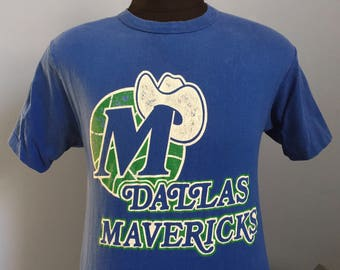 80s 90s Vintage Dallas Mavericks Mavs nba basketball T-Shirt - MEDIUM