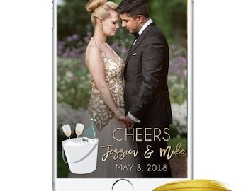 Wedding Snapchat Geofilter, Champagne Wedding Beautiful Party Filter, String Lights Snapchat Geofilter, Wedding Day, Wedding Accessories