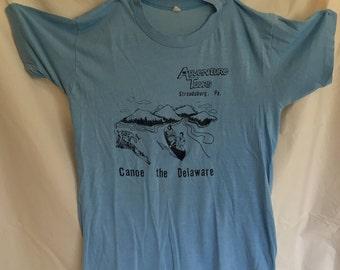 Vintage Tshirt 80s Pennsylvania Tshirt Canoe Delaware T-shirt