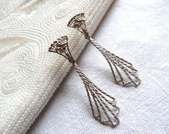 STERLING SILVER earrings - Filigree and cannetille