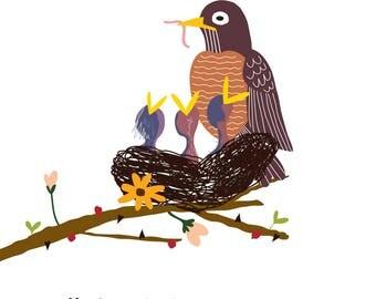 Robins (4x4 Card)