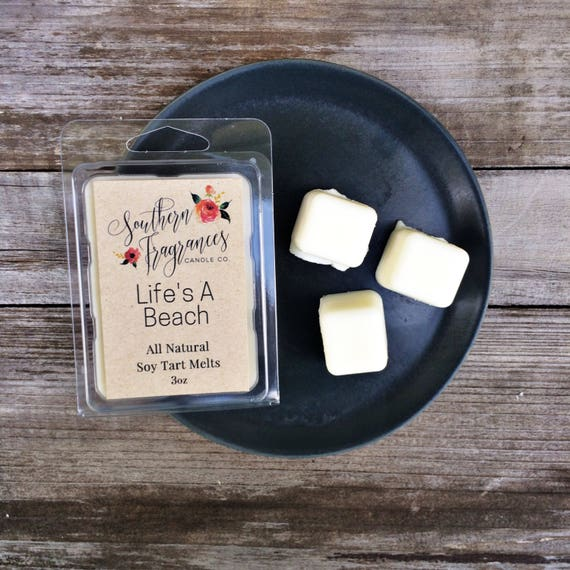 Life's A Beach Soy Tart Melt | Tart Melt | All Natural Soy | Eco Friendly | Home Decor | Gift for Her | Beach Candle | Spring Fragrance