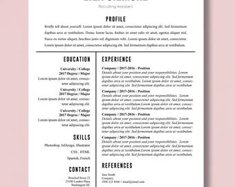 minimalist resume template cv and cover letter design professional resume fillable word document
