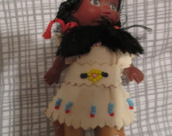 Istas very small Indian Native American doll
