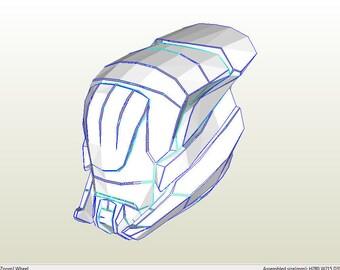 Helmet Destiny. Plantilla  PDO file and PDF file, foamcraft, foam EVA props and cosplay.