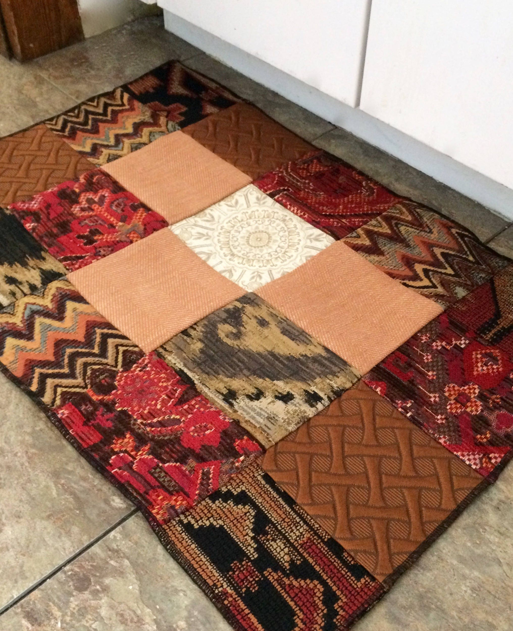 Moroccan Inspired Patchwork Rug