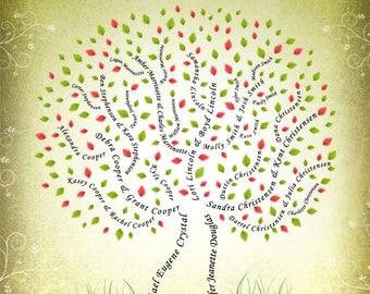Custom 11x14 Family Tree