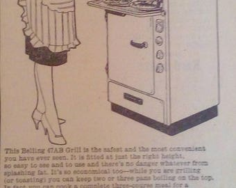 Original Belling Cooker Advert 1950s