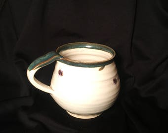 Pottery cup mug  ceramic stoneware multiple bee