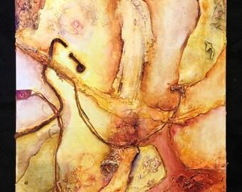 """Abstract mixed media painting - acrylic on canvas - """"Limbo"""""""