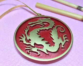 Chinese Dragon Medallion Inspired by Mulan
