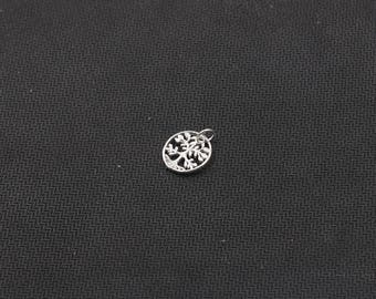 2Pcs 13mm Sterling Silver Life Tree Pendants 925 Silver Charms Wholesale For Bridesmaid Gift Party YX-Y609