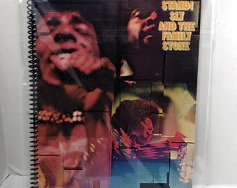 Sly & The Family Stone Album Cover Notebook Handmade Spiral Journal