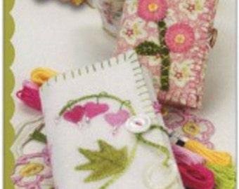 """Pattern """"Blushing Needle Keeps"""" by Meg Hawkey Crabapple Hill Studio Two Sizes of Tri-fold Needle Keeps"""