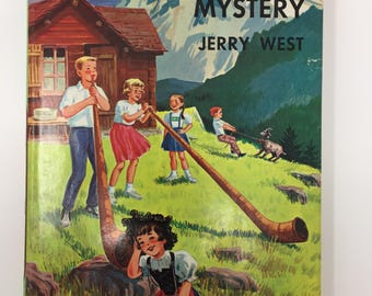 Vintage Happy Hollisters and the Swiss Echo Mystery by Jerry West, 1963