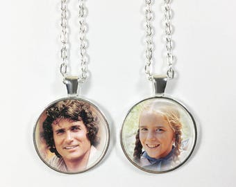 Choose from 12 images! - Little House on the Prairie Pendant or Keychain