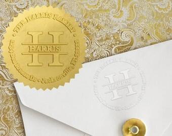 Custom Embosser, Monogram Embosser, Personalized Embossing Seal, Personalized Stamp, Desk Embosser. For Office,