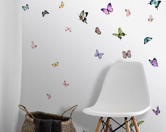Butterfly Kaleidoscope Wallpaper Peel n Stick and Traditional PrePasted
