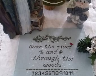 Pattern Pre Order Sampler, Over the river and through the woods, Sampler pattern, Cross Stitch, Pattern, Christmas, Pre Order Pattern