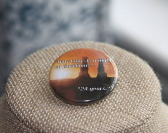 Doctor Who 24 Years Button, Doctor Who 24 Years Pin