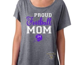 Football Mom Shirt -  Proud Mom - Fashion Shirt - Game Day Shirt - Spirit Shirt - Football Shirt - Helmet Shirt - Athletes Mom - Mothers Day