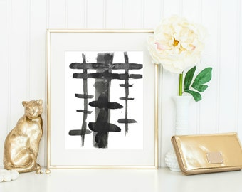 Printable Wall Decor / Instant Download / Home Decor / Minimalist Home Decor / Black and White Abstract