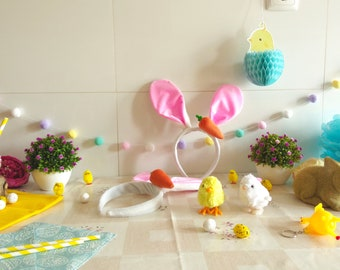 Easter Party Supplies, Easter Pompom Garland, Easter Kids Party, Easter kit, Rabbit Baby Shower, Easter Bunny, Easter Toys, *ONLY 2 KITS*