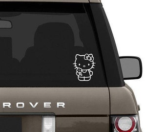 Hello kitty inspired car decal