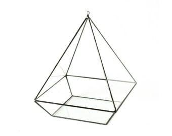 Hanging Terrarium, Geometric Terrarium, Hanging Planter, Glass Planter, Glass Hanging Planter, Glass Display Case, Glass Terrarium