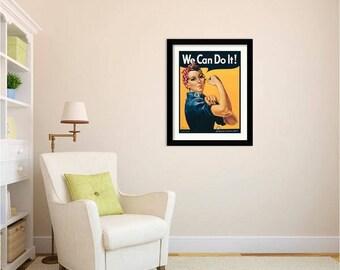 We Can Do It - Rosie The Riveter - Art Print by J. Howard Miller
