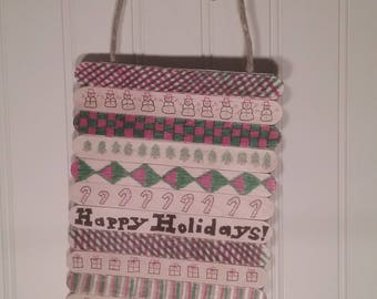 Holiday Doodle Stick Wall Hanging