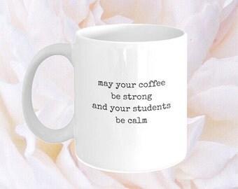 Funny Coffee Mug for Teacher - Christmas Present for Teacher and Professor - Coffee Mug with Saying - Teacher Quote - Preschool Teacher Gift