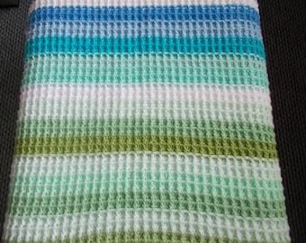 Handmade Crochet baby waffle blanket