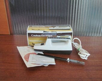 Vintage 60's Moulinex Electric Knife - 60's Electric Carving Knife - Electric Meat Carver - Cake Slicer - 60's Electric Slicer